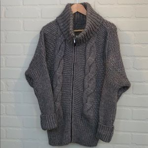 Elsamanda cable knit dolman cardigan Large